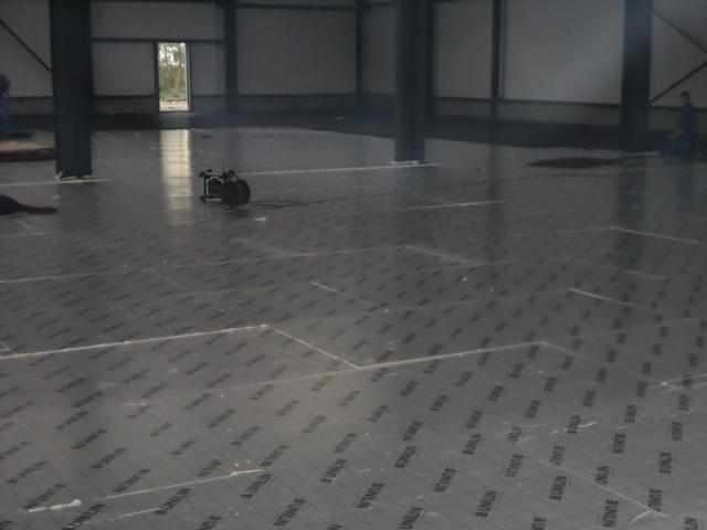 Isolteam isoleren van vloer met PUR-PIR Unilin Utherm Floor