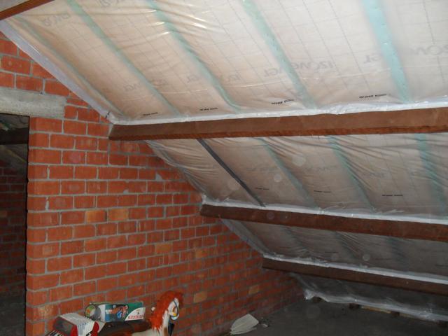 Isolteam isoleren dak met glaswol isover isoconfort dampscherm