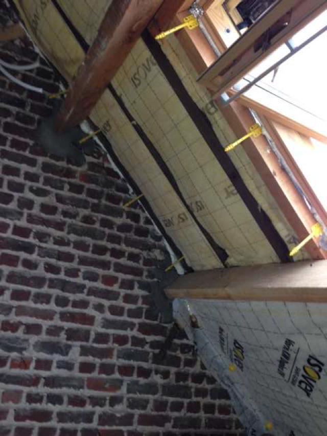isolteam isoleren dak glaswol isover isoconfort dampscherm vario km duplex suspente integra
