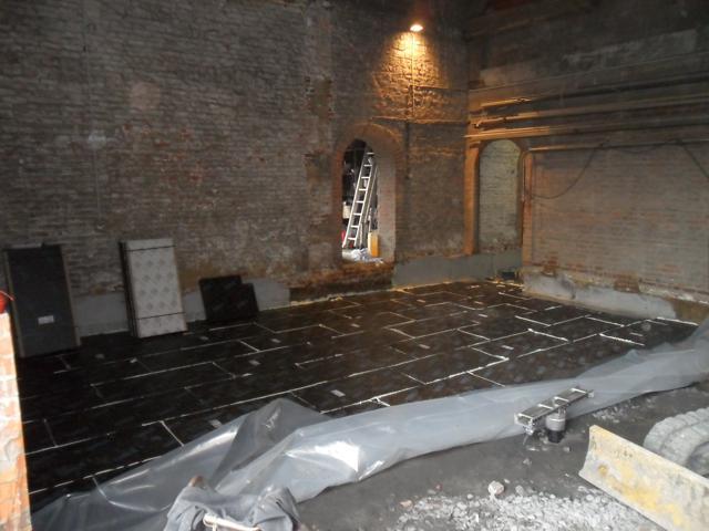 Isolteam isoleren van vloer met cellenglas Foamglas Floorboard