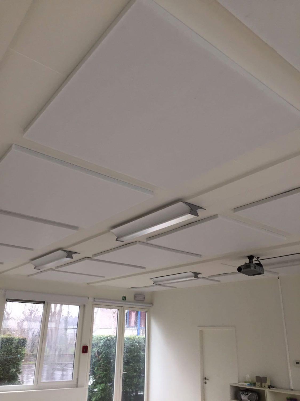 Plafond akoestiek isoleren met polyesterwol Acupol
