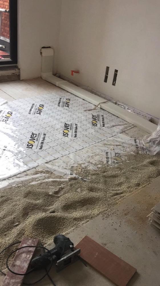 Akoestische isolatie zoldervloerisolatie in Antwerpen met gipsvezel Fermacell