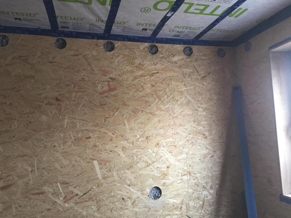 Isolatie houtskeletbouw met cellulossevlokken