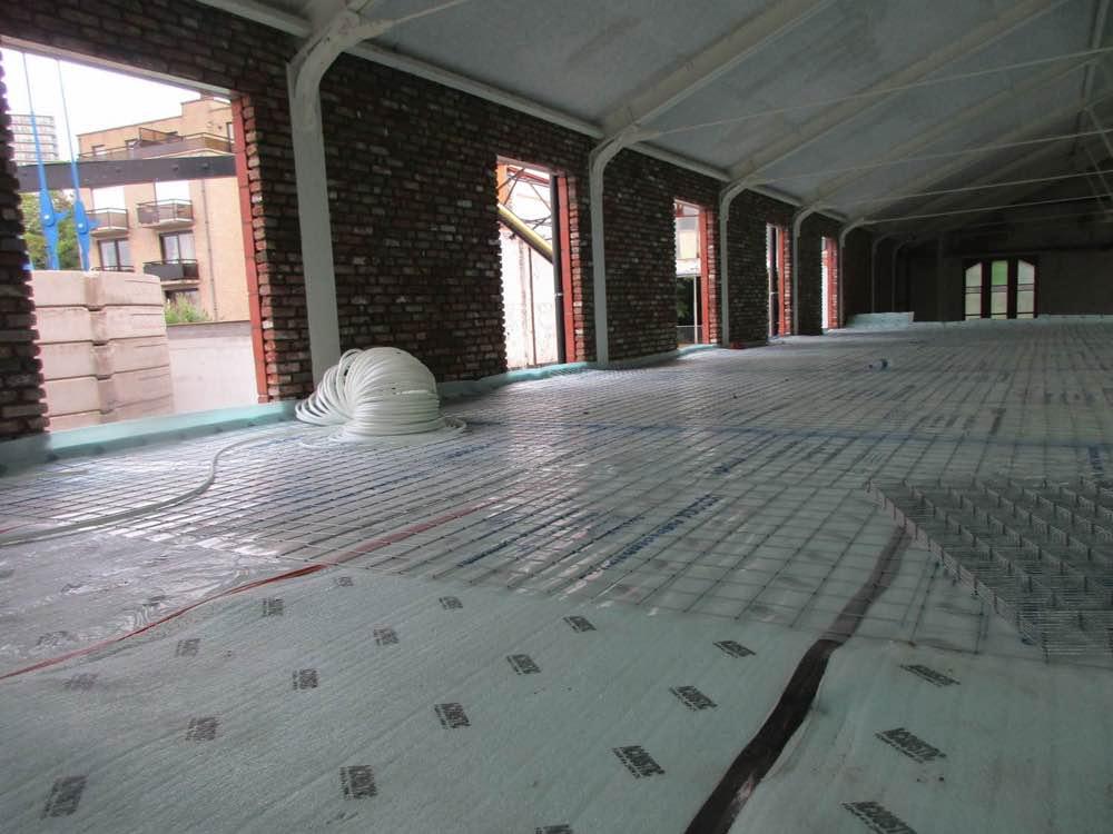 Akoestische isolatie van een vloer in appartementsgebouw