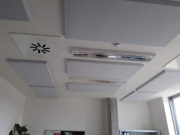 melamine plafondisolatie kantoor